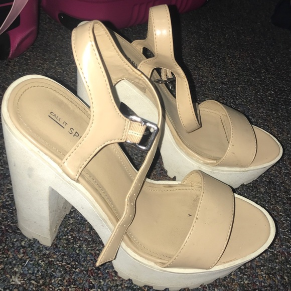 806f4a88a1c Nude platform heels by Call it Spring